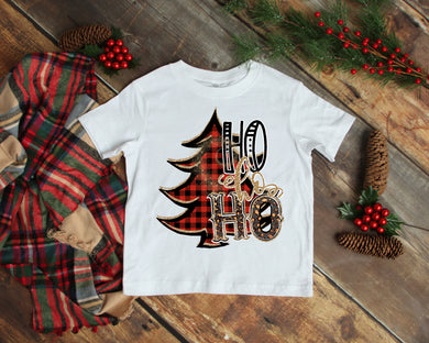 HO HO HO Kids Christmas Shirt