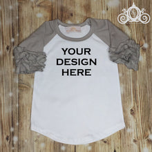 CUSTOMIZE ME! Gray Icing Ruffle Raglan
