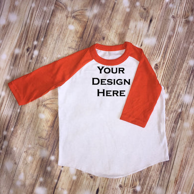 CUSTOMIZE ME! Orange Unisex Raglan