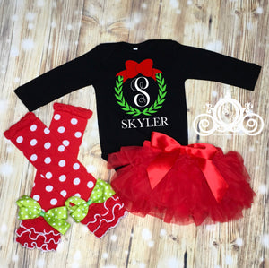 Wreath Monogram Onesie