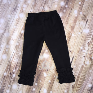Black Icing Ruffle Leggings
