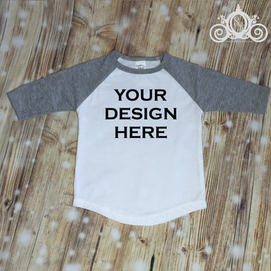 CUSTOMIZE ME! Gray Unisex Raglan