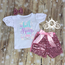 The Bell Still Rings for Me Girls Christmas Ruffle Set