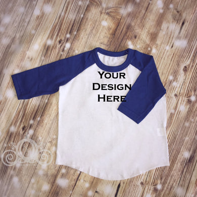 CUSTOMIZE ME! Royal Unisex Raglan