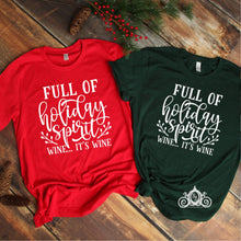 Holiday Spirit Wine Graphic Tee