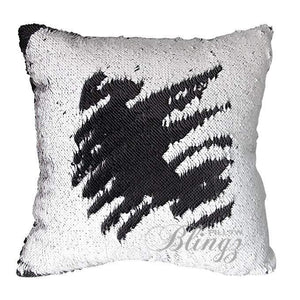 White & Black Reversible Mermaid Sequin Pillow Case - Pillow Blingz