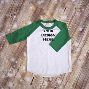 CUSTOMIZE ME! Green Unisex Raglan