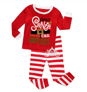 Santa, I  Can Explain Striped Matching Family Christmas Pajamas