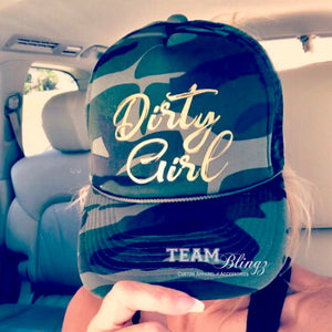 DIRTY GIRL CAMO TRUCKER HAT