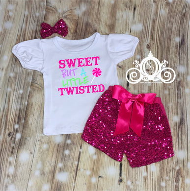 Sweet But a Little Twisted Girls Valentine Set