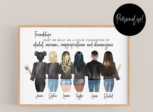 Customizable Friend Family Print