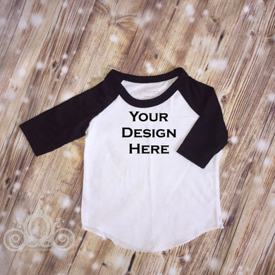 CUSTOMIZE ME! Black Unisex Raglan
