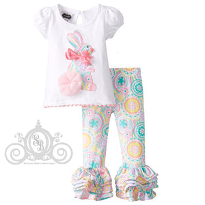 Girls Paisley Bunny Easter Outfit by Mud Pie