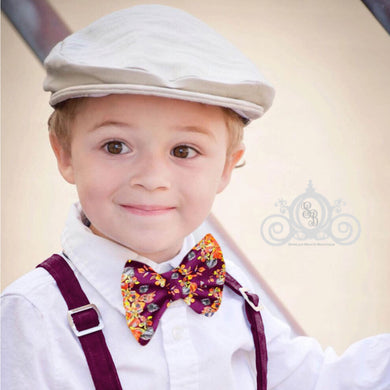 Boys Fall Floral Bow Tie