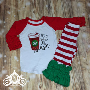 It's Red Cup Season Girls Christmas Set