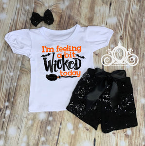 Feeling Wicked Today Girls Halloween Shirt