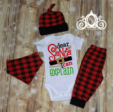 Dear Santa, I Can Explain Plaid Christmas Set