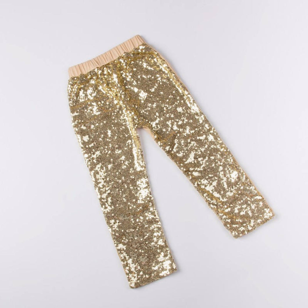 Girls Gold Sequin Pants