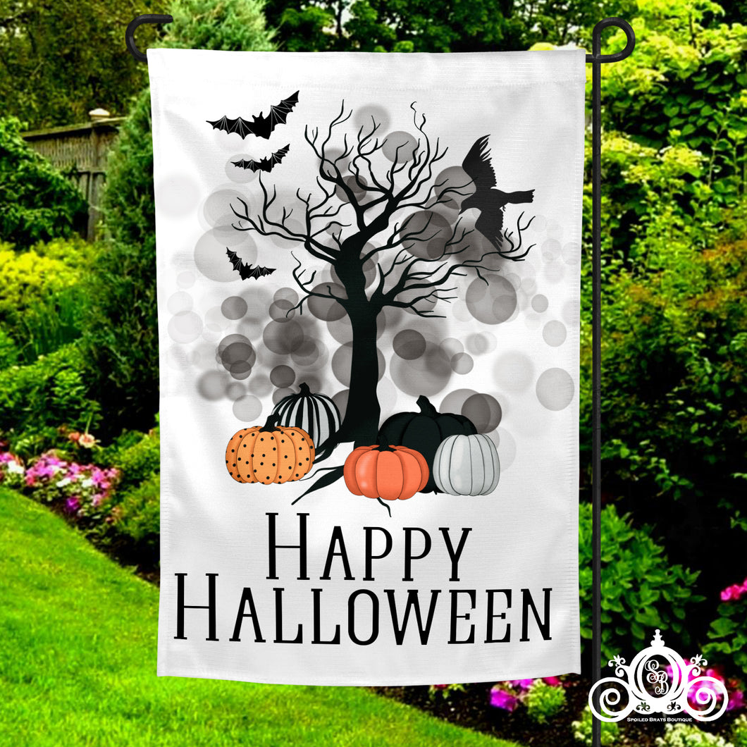 Haunted Tree Halloween Garden Flag