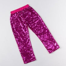 Girls Hot Pink Sequin Pants