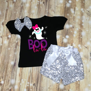 Boo La La Girls Halloween Shirt