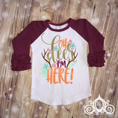 Oh Deer I'm Here Girls Shirt