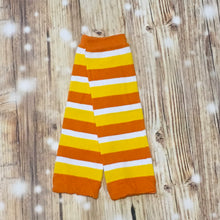 Candy Corn Halloween Stripe Leg Warmers