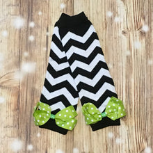 Black/White Chevron Leg Warmers