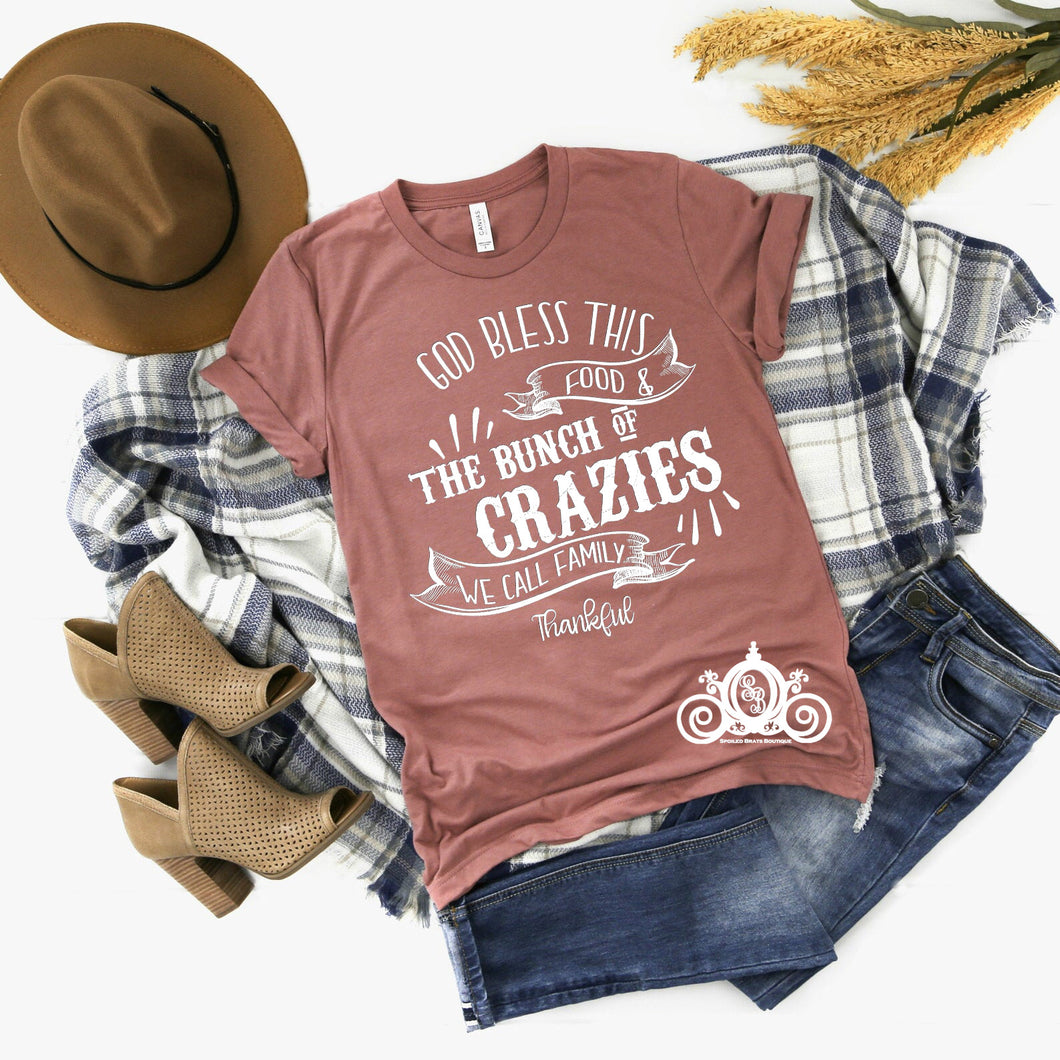 Bunch of Crazies Thanksgiving Tee_Spoiled Brats Boutique