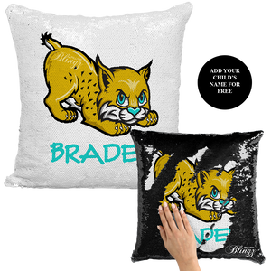 Lil Jags Football Reversible Sequin Pillow Case - Pillow Blingz