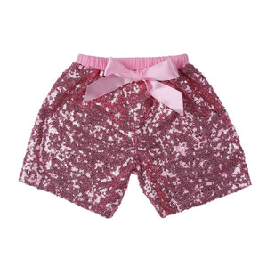 Girls Lt Pink Sequin Shorts