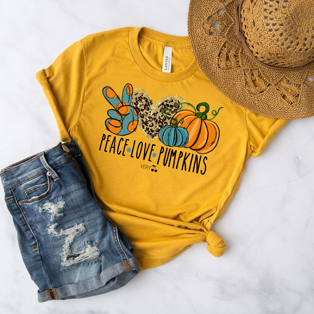 Peace Love Pumpkins Graphic Tee