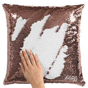 Add Your Pet Photo Reversible Sequin Pillow Case