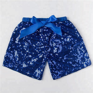 Girls Royal Sequin Shorts