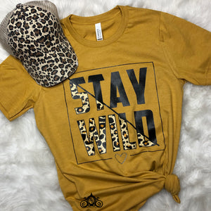 Stay Wild Leopard Graphic Tee