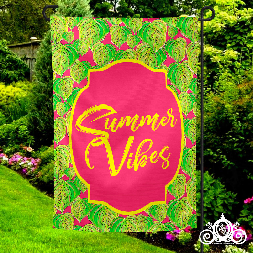 Summer Vibes Garden Flag