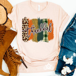 Thankful Plaid Swash Graphic Tee