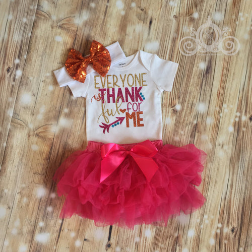 Everyone is Thankful for Me Onesie Tutu Set