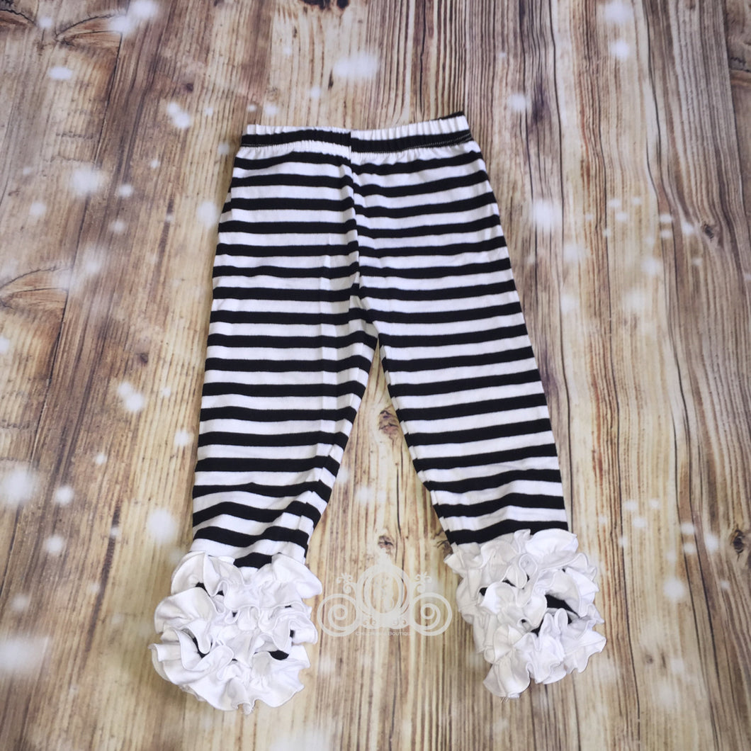Striped Icing Ruffle Leggings