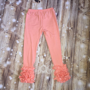 Peach Icing Ruffle Leggings