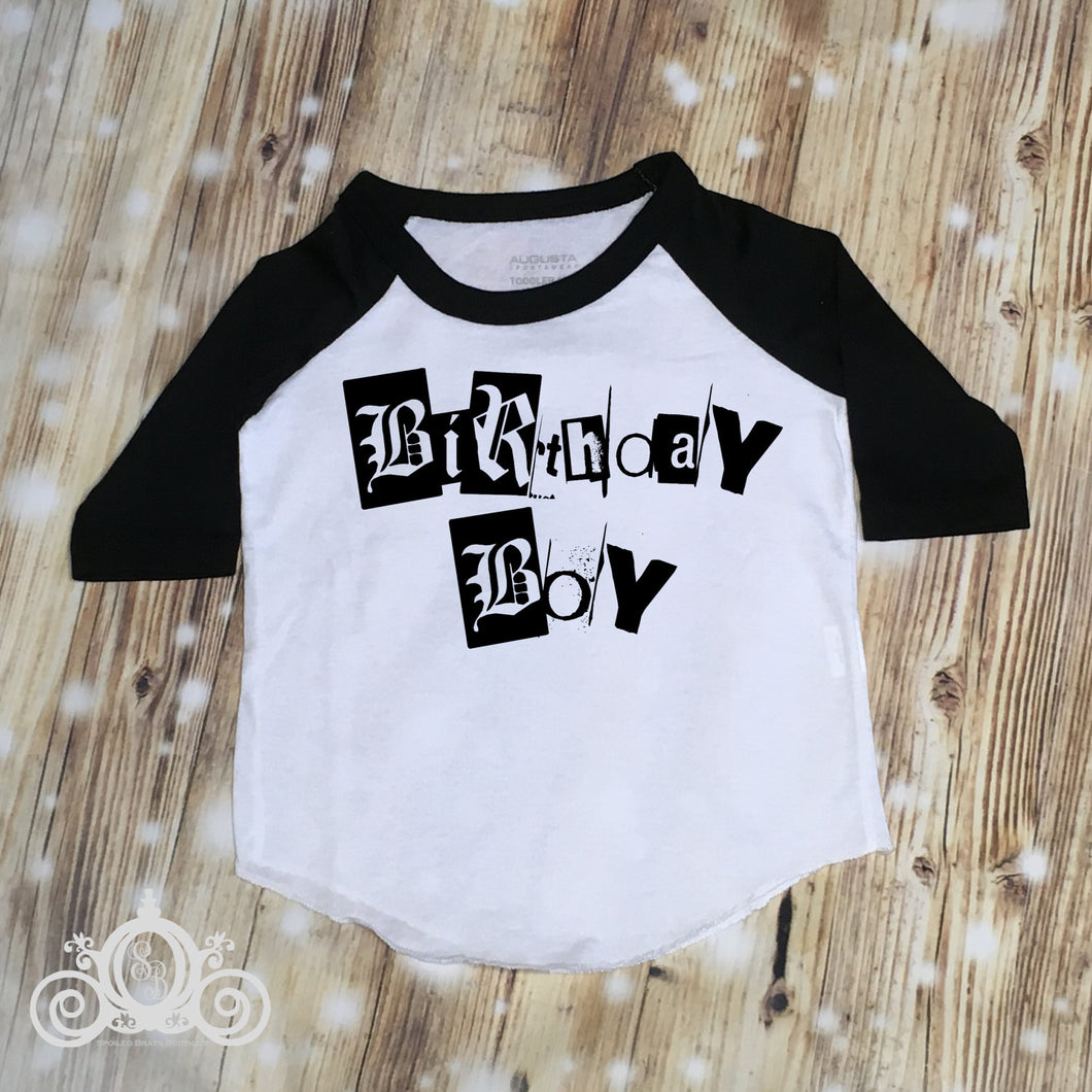 Birthday Boy Trendy Grunge Hipster Shirt