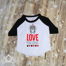 Boys Love Machine Robot Valentine Shirt