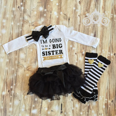 I'm Going to Be a Big Sister Onesie Tutu Set