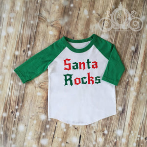 Santa Rocks Unisex Christmas Shirt