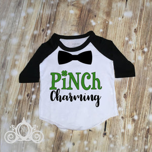 Boys Pinch Charming St Pattys Day Hipster Shirt