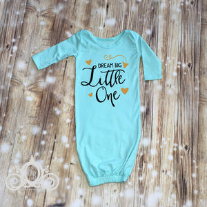 Dream Big a little One Baby Gown Layette