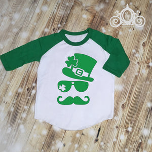 Hipster Leprachaun Boys St Patty's Shirt