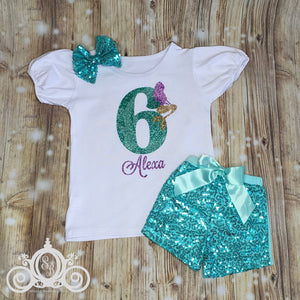 Mermaid Birthday Outfit Personalized w Name and Age