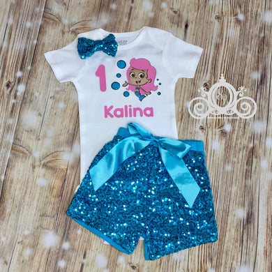Bubble Guppies Molly Birthday Onesie Set