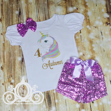 Unicorn Personalized Birthday Shirt